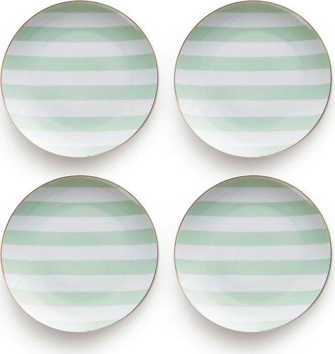 Набор тарелок Rosanna Mint Stripe, 4 шт96584