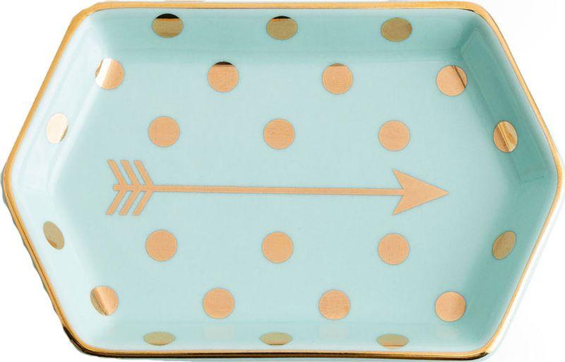 Поднос декоративный Rosanna Arrow. 9694696946Поднос Rosanna, изготовленный из настоящего фарфора в изысканных расцветках, станетнезаменимым предметом для сервировки стола и не оставит ни одну хозяйку равнодушной. Не рекомендуется использовать в микроволновой печи во избежание появления трещин.