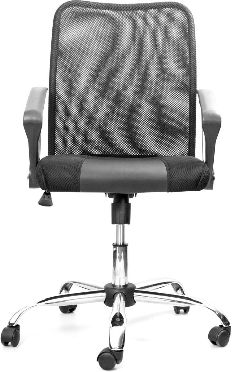 Кресло офисное Recardo Smart 60465159Легкое офисное кресло Recardo Smart 60 придется по вкусу всем, кто любит комфорт и стиль. Сочетание хромированной крестовины и кожаной вставки на сиденье придает креслу солидный вид, а благодаря механизму откидывания, подлокотникам и регулировке высоты вы можете быть уверены в комфорте даже во время длительной работы.Газлифт до 9 см. Вес: 13 кг.Диаметр крестовины: 70 см.