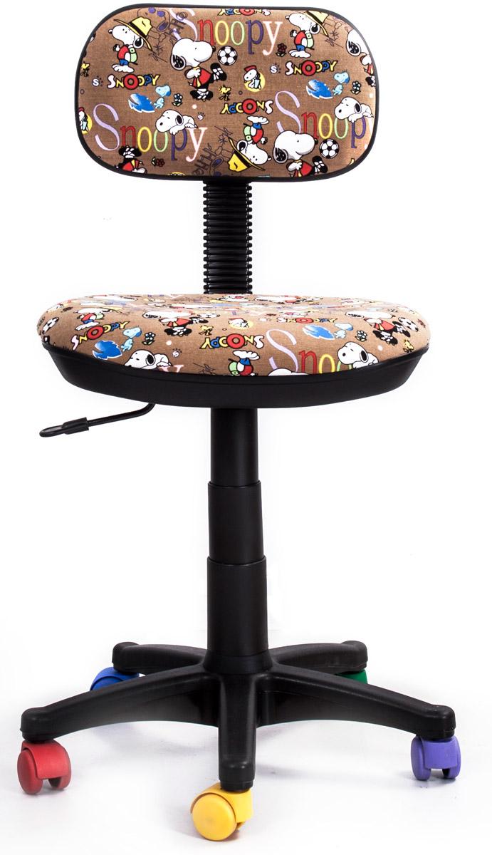 Кресло детское Recardo Junior. Снупи462240Детское кресло Recardo Junior DA02 займет достойное место в детской комнате. Обивка с веселым принтом Снупи и разноцветные колесики создадут у ребенка ощущение своей вещи. Благодаря широкому диапазону регулировки высоты вы можете быть уверены, что кресло будет расти вместе с ребенком. Механизм качания/откидывания позволяет легко настраивать кресло для максимального удобства и заботиться об осанке