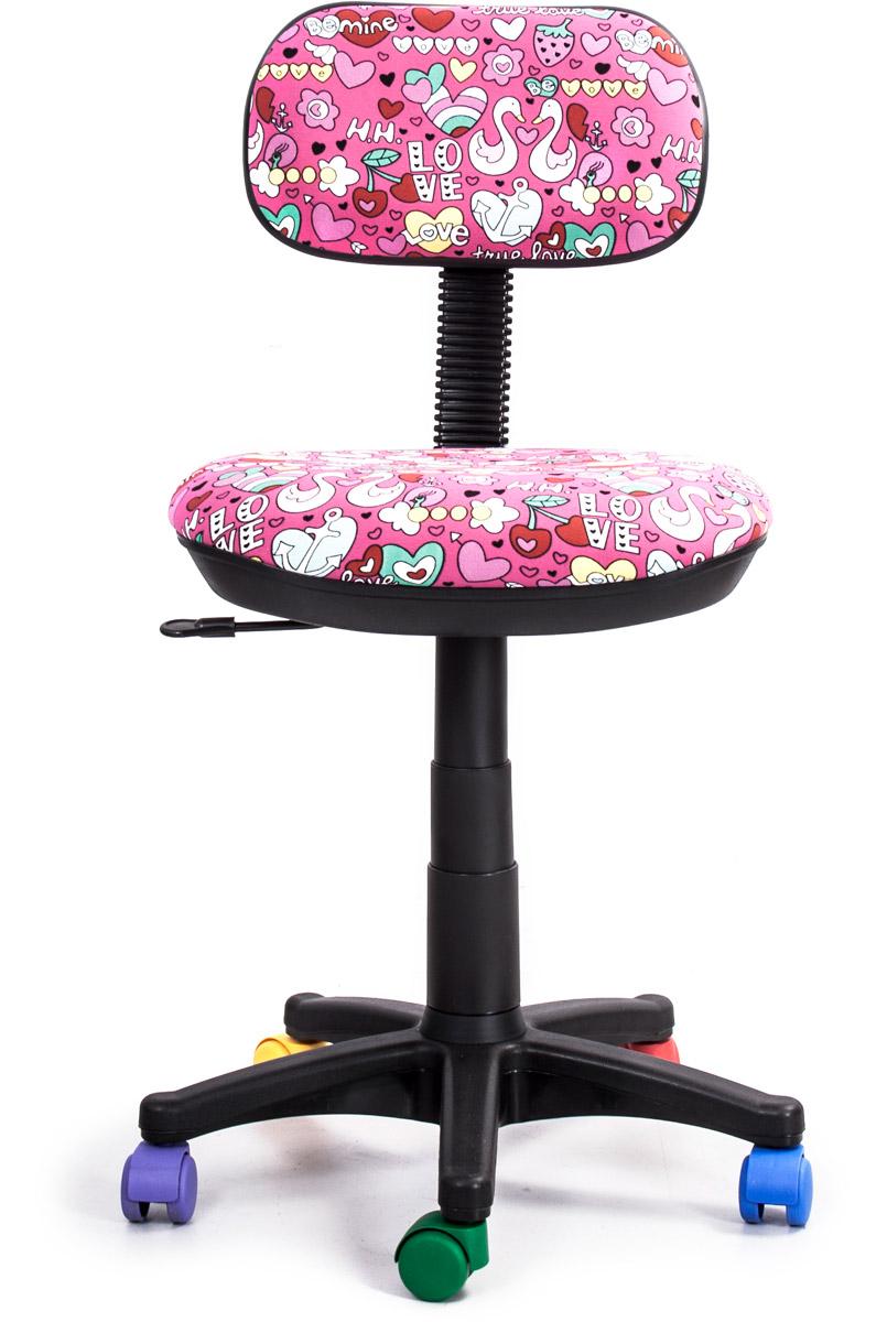 Кресло детское Recardo Junior, цвет: розовый462241Детское кресло Recardo Junior DA03 займет достойное место в детской комнате. Розовая обивка с принтом Любовь и разноцветные колесики создадут у ребенка ощущение своей вещи. Благодаря широкому диапазону регулировки высоты вы можете быть уверены, что кресло будет расти вместе с ребенком. Механизм качания/откидывания позволяет легко настраивать кресло для максимального удобства и заботиться об осанке.