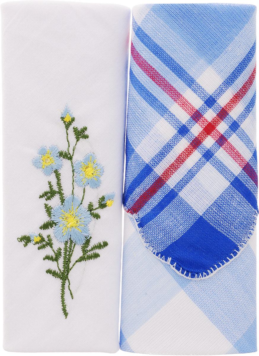 Платок носовой женский Zlata Korunka, цвет: мультиколор, 2 шт. 40222-14. Размер 29 см х 29 см