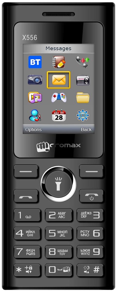 Micromax X556, BlackT010249Micromax X556 - сотовый телефон в эргономичном корпусе. В распоряжении пользователя все необходимые функции и возможности.Наслаждайтесь ярким цветным изображением на крупном 1,77-дюймовом экране телефона Micromax X556.Слушайте самые горячие музыкальные хиты и любимые мелодии с помощью встроенного аудиоплеера. Или переключитесь на FM-радио. Оставаться всегда на связи и использовать лучшие предложения на рынке мобильных услуг позволит поддержка двух SIM-карт.Телефон сертифицирован EAC и имеет русифицированную клавиатуру, меню и Руководство пользователя.