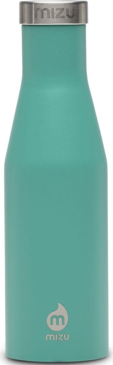 Термобутылка для жидкостей Mizu S4, цвет: мятный, 400 мл813551023073Бутылка для воды Mizu S4 выполнена из пищевой нержавеющей стали. Корпус украшен фирменным логотипом. Рэтро-форма и дизайн были вдохновлены старомодной бутылкой для молока. Не содержит вредного BPA.Объем: 400 мл.