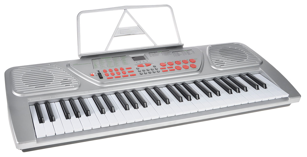 ABtoys Синтезатор DoReMi 54 клавиши с микрофоном D-00008 клавиши купить