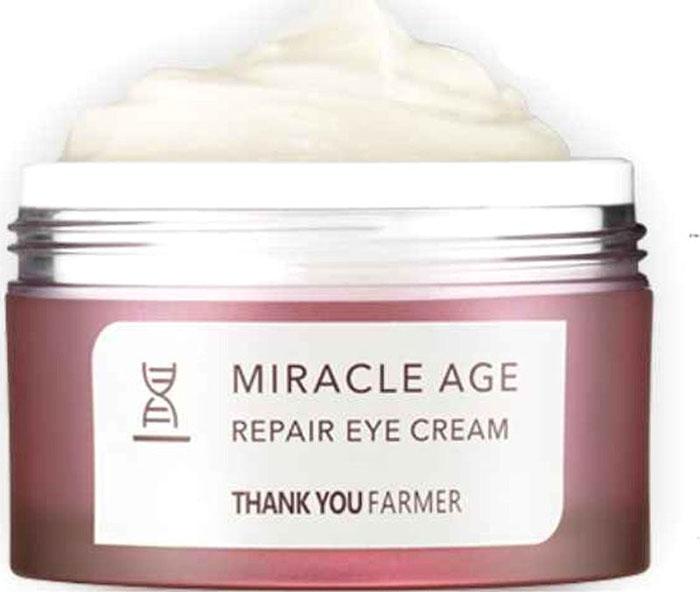 Thank You Farmer Восстанавливающий крем для кожи вокруг глаз , 20 млTYF12Универсален на любой возраст от 20 до 60: подходит как для зрелой, так и для молодой кожи с ранними признаками старения.Крем очень насыщен растительными маслами, которые не только омолаживают, но и создают невесомую защитную пленку от негативного влияния окружающей среды, в том числе дарит легкий солнцезащитный эффект (SPF 4).- насыщенная густая текстура экономично расходуется, 2 в 1: дневной + ночной;- подходит даже для очень сухой кожи с огрубевшими и шелушащимися участками, особенно актуален зимой;- комплексно омолаживает кожу: уплотняет и подтягивает, разглаживает морщины и заломы, питает и разглаживает признаки усталости, в том числе улучшает цвет лица;- дарит легкий отбеливающий эффект.