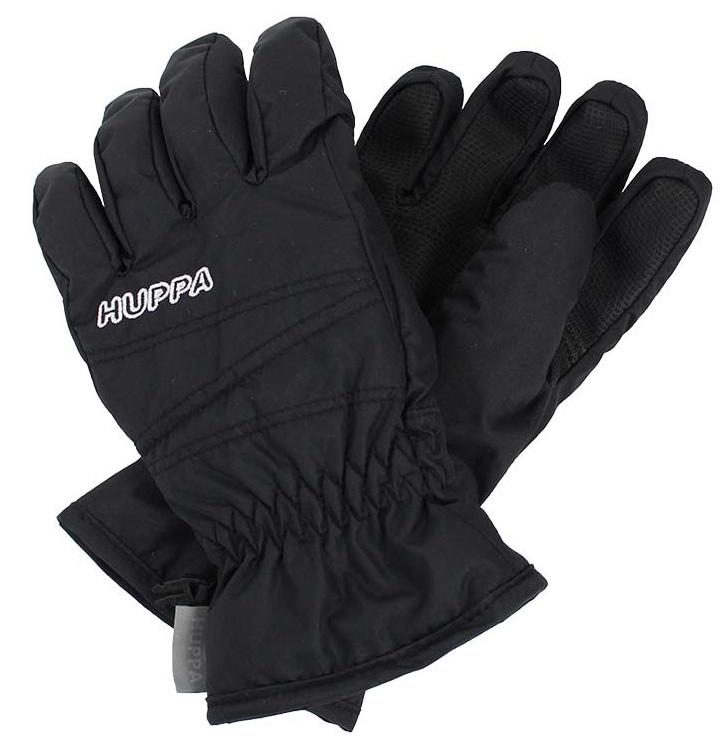 Перчатки детские Huppa Keran, цвет: черный. 8215BASE-00009. Размер 78215BASE-00009Детские перчатки Huppa Keran выполнены из водонепроницаемого материала - высококачественного полиэстера. Утеплитель и подкладка из полиэстера не дадут рукам замерзнуть. Манжеты присборены на резинки. Такие перчатки отлично подойдут для повседневных прогулок в холодную погоду.