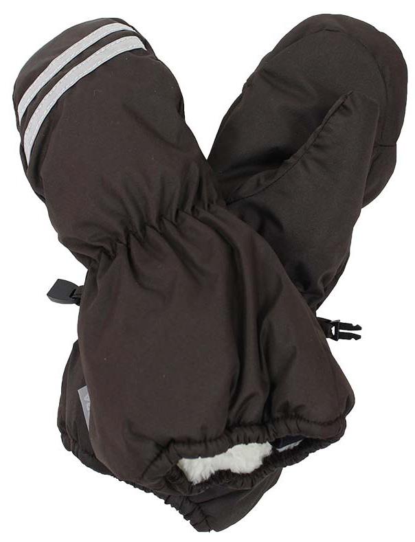 Варежки детские Huppa Roy, цвет: темно-коричневый. 8110BASE-60081. Размер 18110BASE-60081Детские варежки Huppa Roy, изготовленные из высококачественного полиэстера, станут идеальным вариантом для холодной зимней погоды. Первоклассный мембранный материал с теплой подкладкой Coral-fleece, а также наполнитель из полиэстера надежно сохранят тепло и не дадут ручкам вашего малыша замерзнуть.Варежки дополнены удлиненными манжетами, которые помогут предотвратить попадание снега и влаги. На запястьях варежки собраны на эластичные резинки, что обеспечивает комфортную и надежную посадку. Варежки дополнены длинной эластичной резинкой.