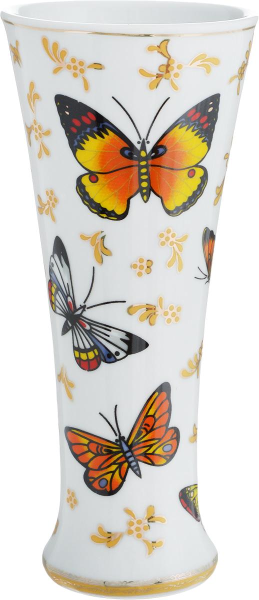Ваза Elan Gallery Бабочки, высота 18 см503514Декоративная ваза украсит Ваш интерьер и будет прекрасным подарком для Ваших близких! Оригинальный дизайн наполнит Ваш дом праздничным настроением. Изделие имеет подарочную упаковку, поэтому станет желанным подарком для Ваших близких!Размер вазы: 8 х 8 х 18 см.