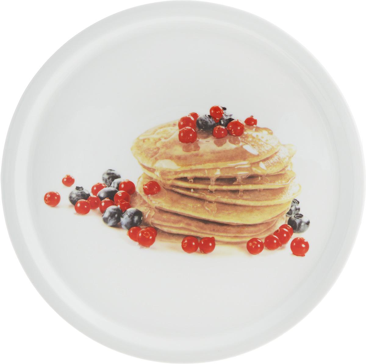 Тарелка для блинов Elan Gallery Блины с ягодами, диаметр 25 см сувениры религиозные elan gallery тарелка декоративная пресвятая богородица владимирская