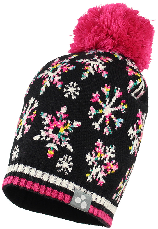 Шапка для девочки Huppa Flake, цвет: черный. 80510000-71609. Размер M (51/53) шапка для девочки huppa winnie цвет сиреневый 8825aw14 003 размер 47