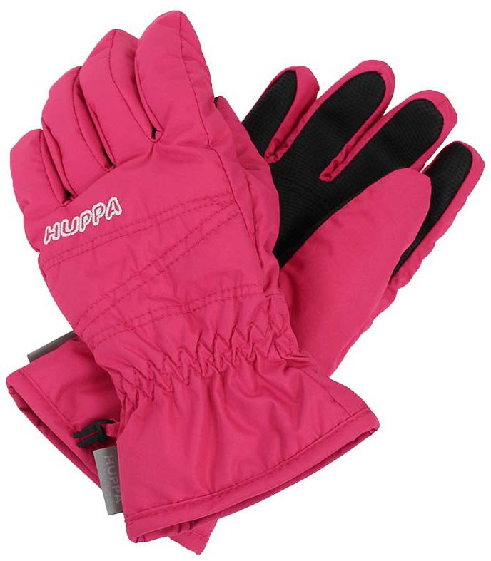 Перчатки детские Huppa Keran, цвет: фуксия. 8215BASE-60063. Размер 68215BASE-60063Детские перчатки Huppa Keran выполнены из водонепроницаемого материала - высококачественного полиэстера. Утеплитель и подкладка из полиэстера не дадут рукам замерзнуть. Манжеты присборены на резинки. Такие перчатки отлично подойдут для повседневных прогулок в холодную погоду.