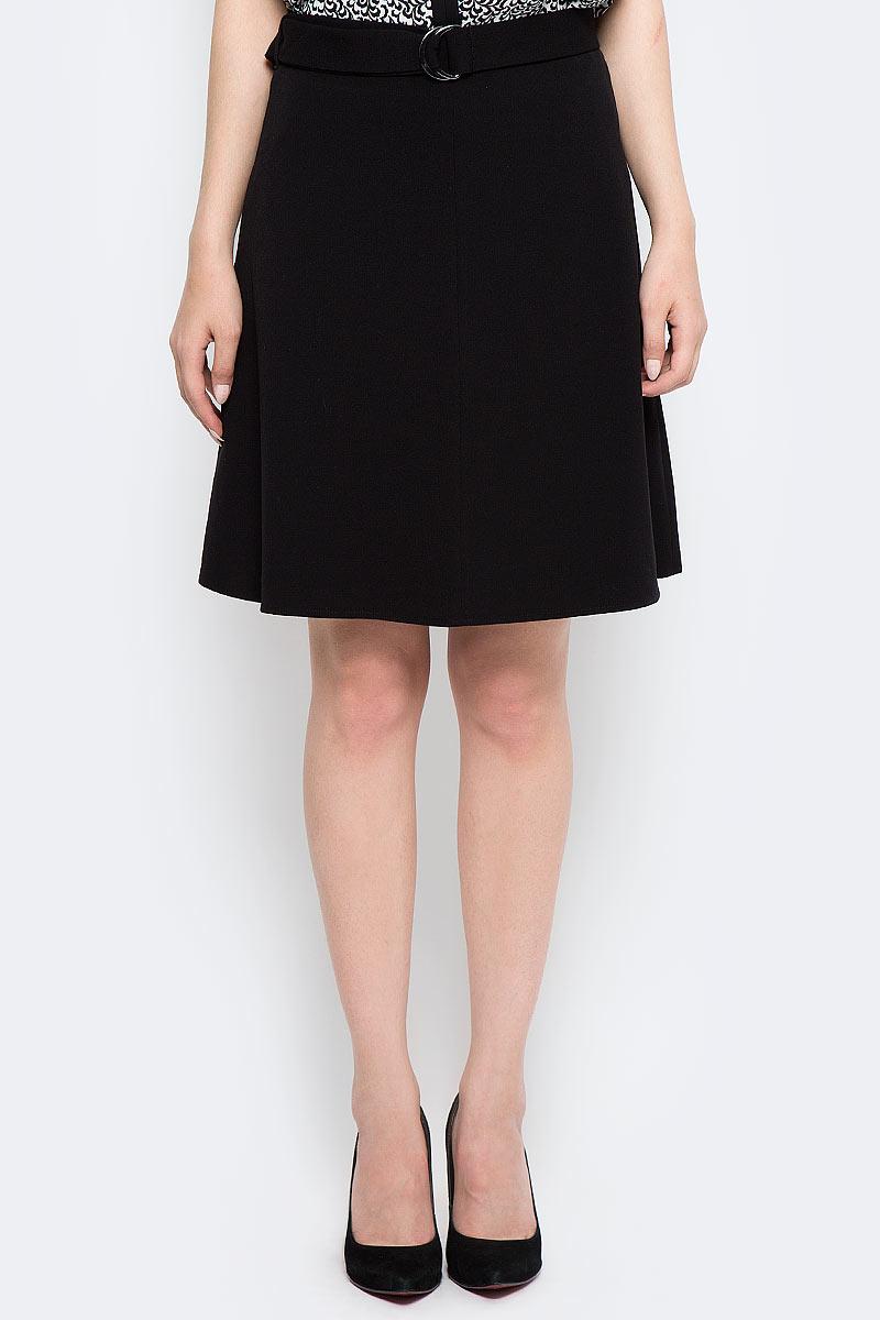 Юбка женская Sela, цвет: черный. SK-118/889-7370. Размер 46 цена 2017