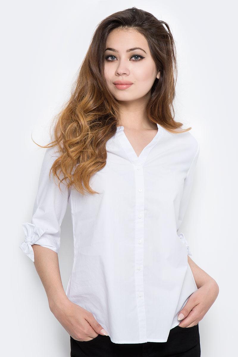 Блузка женская Sela, цвет: белый. B-112/1301-7350. Размер 48 рубашка женская sela цвет белый bs 112 1302 7350 размер 46