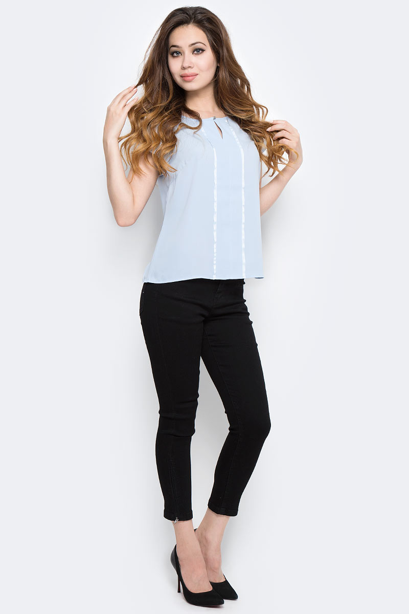 Блузка женская Sela, цвет: голубой. Tws-112/1293-7370. Размер 50 sela se001ebotd99