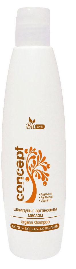 Сoncept BIO Tech Argana Шампунь для волос с Аргановым маслом (Argana Shampoo), 250мл34085Шампунь для волос с Аргановым маслом прекрасно восстанавливает и укрепляет ломкие волосы. Сочетание масла Арганы, Пантенола и Витамина E защитит и подарит блеск, силу, шелковистость вашим волосам.Не содержит раздражающие кожу ПАВ и Парабены. pH - 5,5 - 5,0.