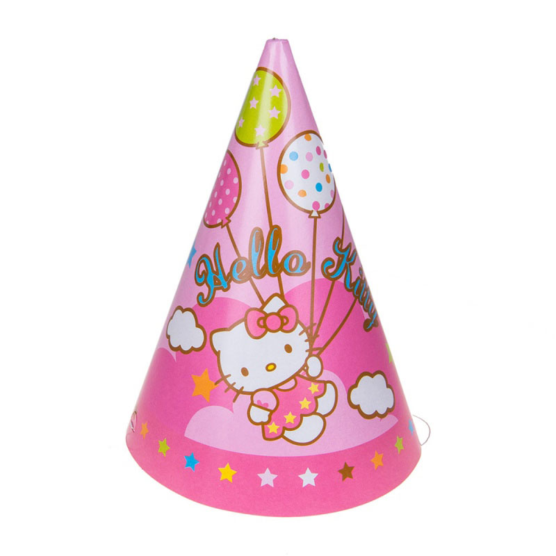 Веселая затея Колпак Hello Kitty 8 шт -  Колпаки и шляпы
