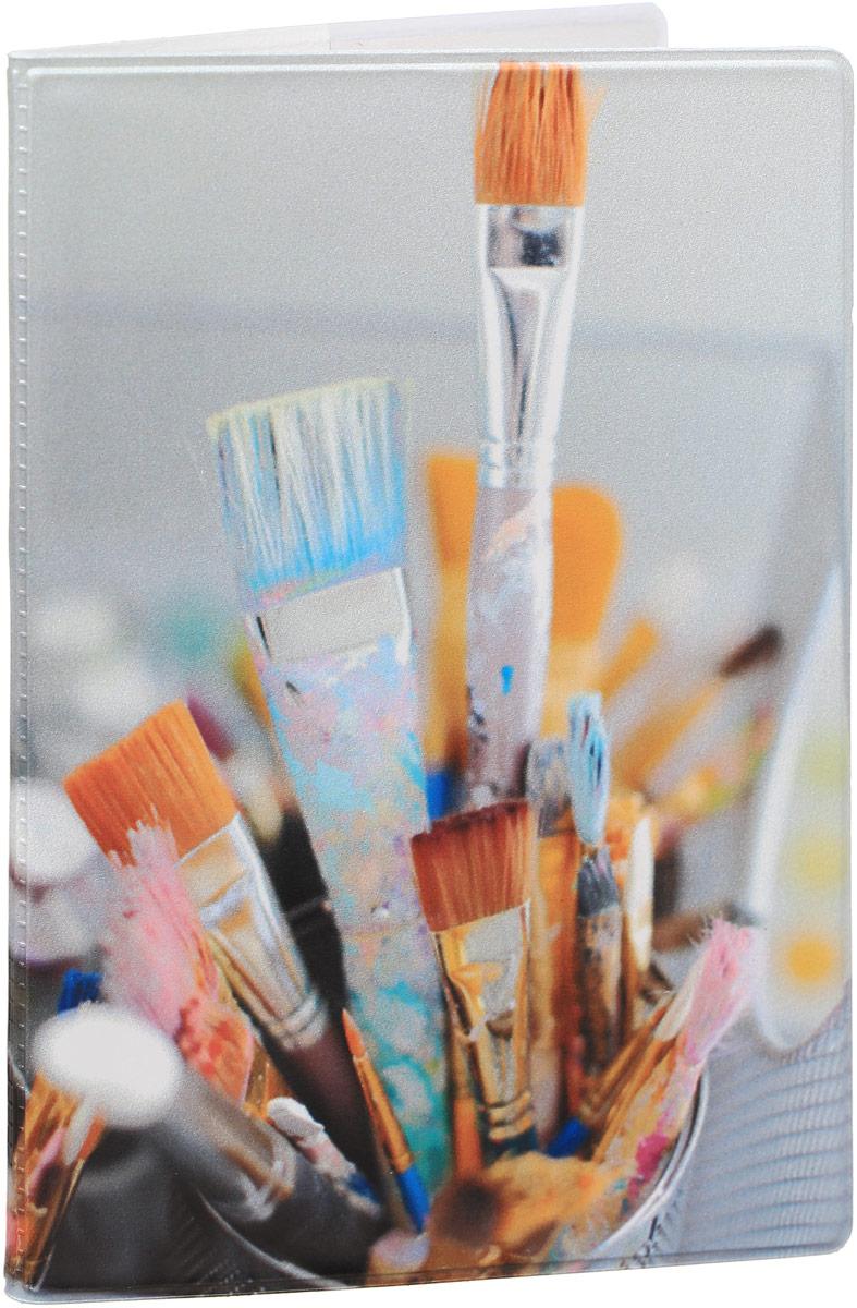 Обложка для паспорта Kawaii Factory Art brushes, цвет: белый, мультиколор. KW064-000029KW064-000029Обложка для паспорта от Kawaii Factory - оригинальный и стильный аксессуар, который придется по душе истинным модникам и поклонникам интересного и необычного дизайна.Качественная обложка выполнена из легкого и прочного ПВХ с приятной фактурой, который надежно защищает важные документы от пыли и влаги. Рисунок нанесён специальным образом и защищён от стирания.Изделие раскладывается пополам. Внутри размещены два накладных кармашка из прозрачного ПВХ.