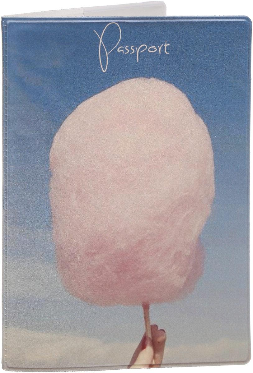 Обложка для паспорта Kawaii Factory Cotton candy, цвет: голубой. KW064-000042ПВХ (поливинилхлорид)Обложка для паспорта от Kawaii Factory - оригинальный и стильный аксессуар, который придетсяпо душе истинным модникам и поклонникам интересного и необычного дизайна. Качественная обложка выполнена из легкого и прочного ПВХ с приятной фактурой, которыйнадежно защищает важные документы от пыли и влаги. Рисунок нанесён специальным образом изащищён от стирания.Изделие раскладывается пополам. Внутри размещены два накладныхкармашка из прозрачного ПВХ.