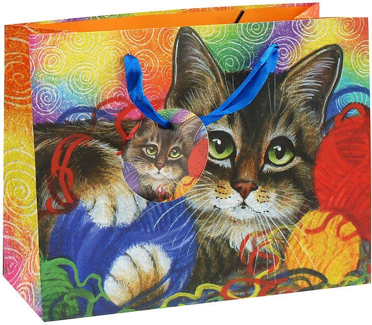 Пакет подарочный Белоснежка Котик с клубочками, 23 х 10 х 18 см1011S-SBПакет подарочный Котик с клубочками выполнен из качественной плотной бумаги с хорошей печатью, объемные элементы на пакете придают дополнительный яркий акцент.