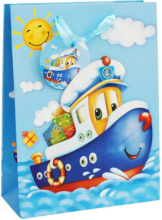 Пакет подарочный Белоснежка Кораблик, 30 х 12 х 42 см1030-SB