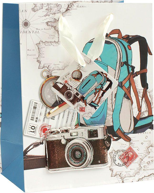 Пакет подарочный Белоснежка Опять в школу, 18 х 10 х 23 см1068-SB