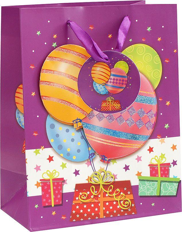 Пакет подарочный Белоснежка Шары на день рождения, 18 х 10 х 23 см983507Подарочный пакет Белоснежка, изготовленный из плотной бумаги, станет незаменимым дополнением к выбранному подарку. Для удобной переноски на пакете имеются две ручки.Подарок, преподнесенный в оригинальной упаковке, всегда будет самым эффектным и запоминающимся. Окружите близких людей вниманием и заботой, вручив презент в нарядном, праздничном оформлении.