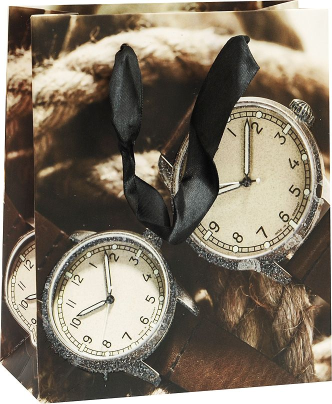 Пакет подарочный Белоснежка Карманные часы, 14 х 7 х 17 см1294-SB