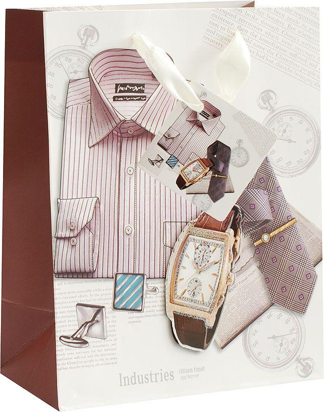 Пакет подарочный Белоснежка Деловой стиль, 18 х 10 х 23 см1326-SB