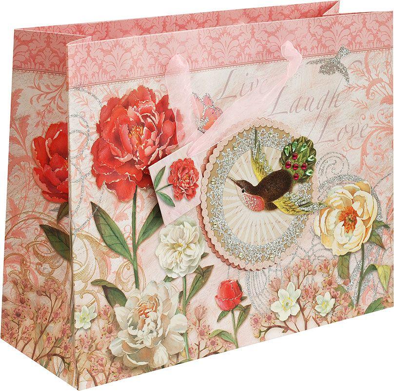 Пакет подарочный Белоснежка Маленькая колибри, 35 х 12,5 х 28 см1473M-SB