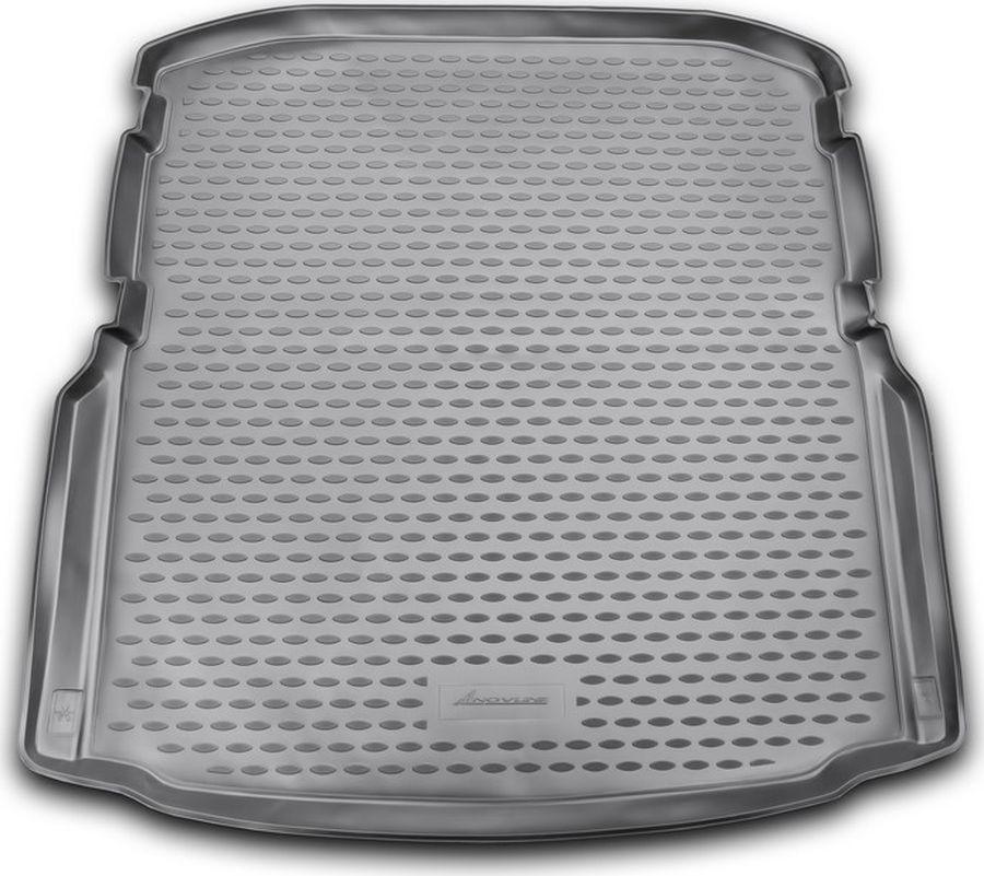 Коврик автомобильный Novline-Autofamily для Skoda Octavia лифтбек 2013-, в багажник, цвет: черный автомобильный коврик seintex 677 для skoda octavia