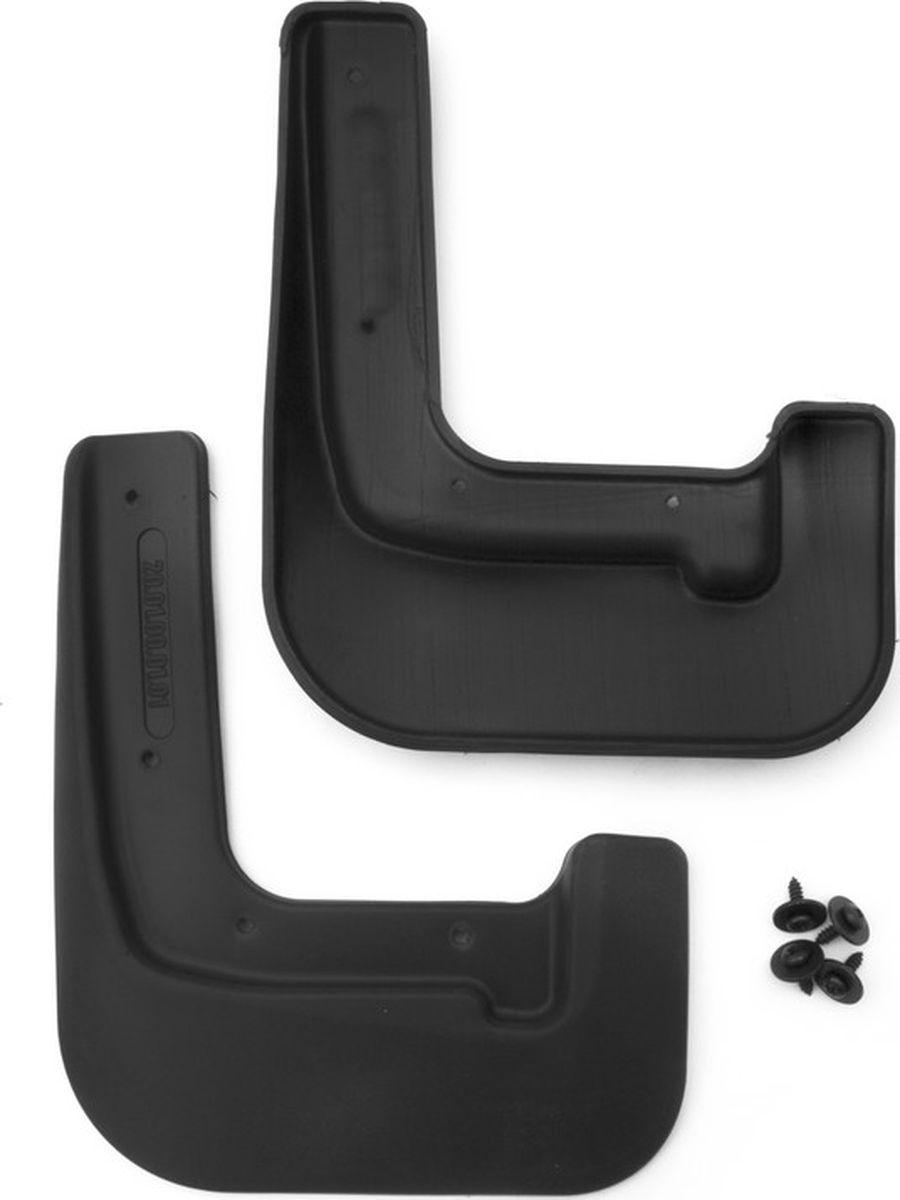 Комплект передних брызговиков Novline-Autofamily, для Hyundai Solaris, 02/2014->, седан, 2 штNLF.20.01.F10Брызговики - это не только способ защитить свой автомобиль от летящих из-под колёс грязи, песка и камней, сделать поездку безопаснее для всех участников движения, но и стильный аксессуар, дополняющий силуэт автомобиля. Просчитанная геометрия, а также наличие оригинального крепежа и подробной инструкции сделают процесс установки простым и быстрым. А европейские материалы и технологии позволяют брызговикам сохранять гибкость даже на морозе. Преимущества :наличие оригинального крепежа и инструкции по установке;отверстия в местах крепления ускоряют и упрощают установку;материал сохраняет гибкость даже на 50-градусном морозе; надёжная защита кузова от пескоструйного эффекта;геометрия, разработанная по результатам 3D-сканирования колёсной арки.