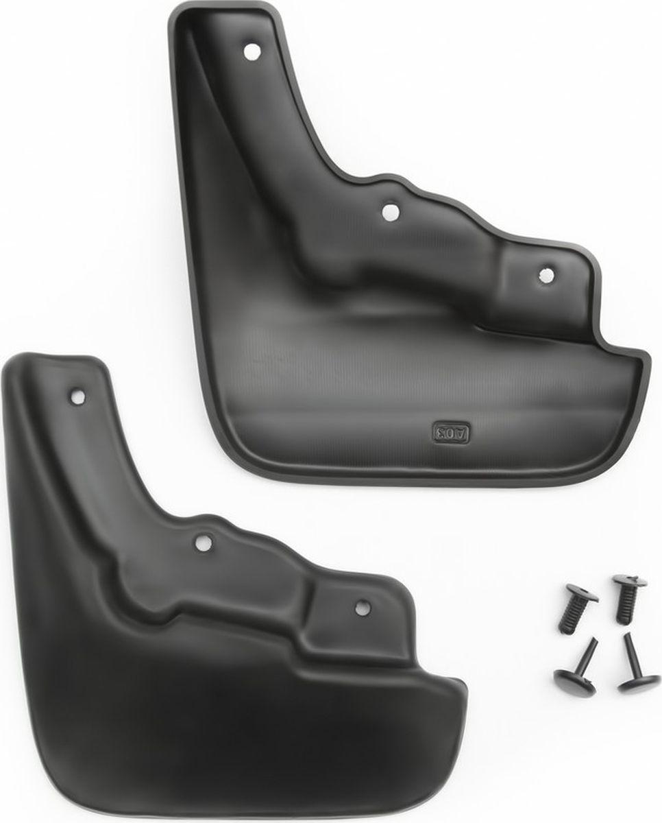 Комплект брызговиков передних Novline-Autofamily для Mazda 3, 2009-2011, 2 штNLF.33.17.F10Комплект Novline-Autofamily состоит из 2 передних брызговиков, изготовленных из высококачественного полиуретана. Изделия эффективно защищают кузов автомобиля от грязи и воды, формируют аэродинамический поток воздуха, создаваемый при движении вокруг кузова таким образом, чтобы максимально уменьшить образование грязевой измороси, оседающей на автомобиле. Разработаны индивидуально для каждой модели автомобиля. С эстетической точки зрения брызговики являются завершением колесных арок.