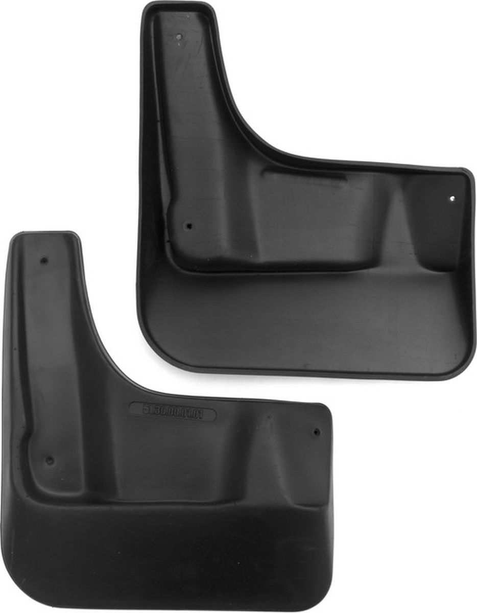 Комплект брызговиков передних Novline-Autofamily для Volkswagen Polo, 2010-, 2 штNLF.51.30.F10Комплект Novline-Autofamily состоит из 2 передних брызговиков, изготовленных из высококачественного полиуретана. Изделия эффективно защищают кузов автомобиля от грязи и воды, формируют аэродинамический поток воздуха, создаваемый при движении вокруг кузова таким образом, чтобы максимально уменьшить образование грязевой измороси, оседающей на автомобиле. Разработаны индивидуально для каждой модели автомобиля. С эстетической точки зрения брызговики являются завершением колесных арок.