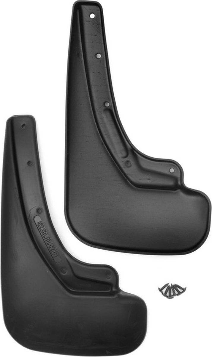 Комплект брызговиков задних Novline-Autofamily для Lada Vesta, 2015- седан, 2 штNLF.52.33.E10Комплект Novline-Autofamily состоит из 2 задних брызговиков, изготовленных из высококачественного полиуретана. Изделия эффективно защищают кузов автомобиля от грязи и воды, формируют аэродинамический поток воздуха, создаваемый при движении вокруг кузова таким образом, чтобы максимально уменьшить образование грязевой измороси, оседающей на автомобиле. Разработаны индивидуально для каждой модели автомобиля. С эстетической точки зрения брызговики являются завершением колесных арок.