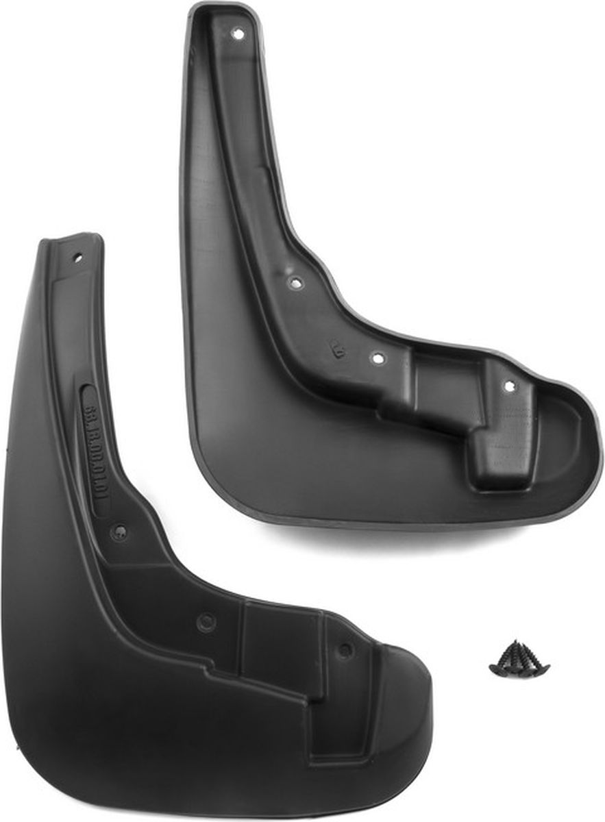 Комплект брызговиков передних Novline-Autofamily для Chery Bonus A19 седан, 2014-, 2 штNLF.63.18.F10Комплект Novline-Autofamily состоит из 2 передних брызговиков, изготовленных из высококачественного полиуретана. Изделия эффективно защищают кузов автомобиля от грязи и воды, формируют аэродинамический поток воздуха, создаваемый при движении вокруг кузова таким образом, чтобы максимально уменьшить образование грязевой измороси, оседающей на автомобиле. Разработаны индивидуально для каждой модели автомобиля. С эстетической точки зрения брызговики являются завершением колесных арок.