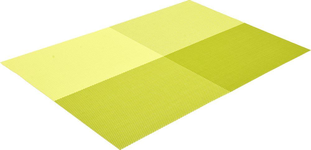 Салфетка сервировочная Marmiton Геометрия, цвет: лайм, 30 х 45 см16160Салфетка Marmiton предназначена для сервирования стола и украшение интерьера. Салфетка выполнена из ПВХ.Такие изделия легко моются и удобны в хранении, имеют стильный и красивый дизайн. Изготовлены из современного, высокотехнологичного материала, обладающего рядом уникальных свойств: высокая прочность, эластичность, большая износостойкость, высокая термостойкость и устойчивость к ультрафиолетовым лучам. Меры предосторожности: температурный режим использования до 90 С. Не подвергать прямому воздействию огня!