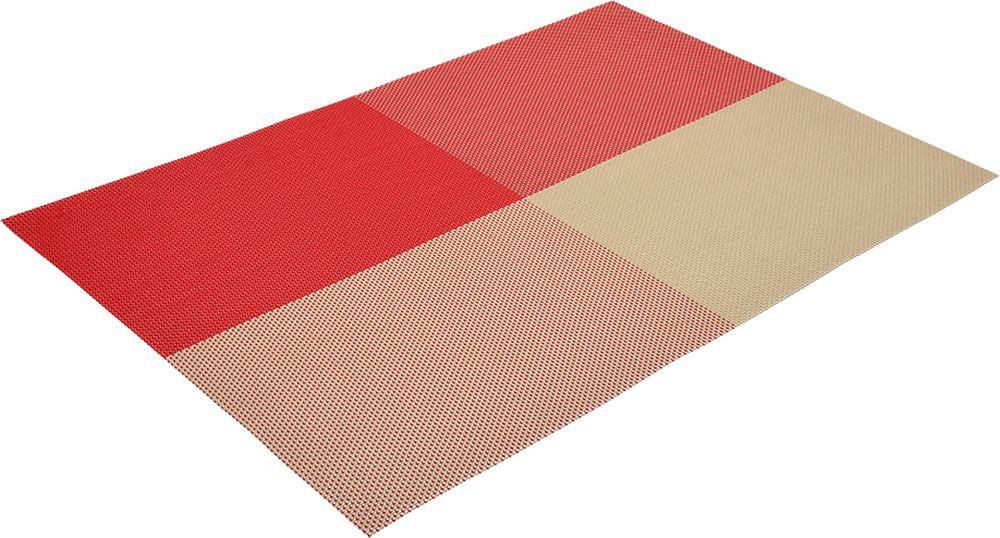 Салфетка сервировочная Marmiton Геометрия, цвет: бордовый, 300 х 450 мм16161Салфетка Marmiton предназначена для сервирования стола и украшение интерьера. Салфетка выполнена из ПВХ.Такие изделия легко моются и удобны в хранении, имеют стильный и красивый дизайн. Изготовлены из современного, высокотехнологичного материала, обладающего рядом уникальных свойств: высокая прочность, эластичность, большая износостойкость, высокая термостойкость и устойчивость к ультрафиолетовым лучам. Меры предосторожности: температурный режим использования до 90 С. Не подвергать прямому воздействию огня!