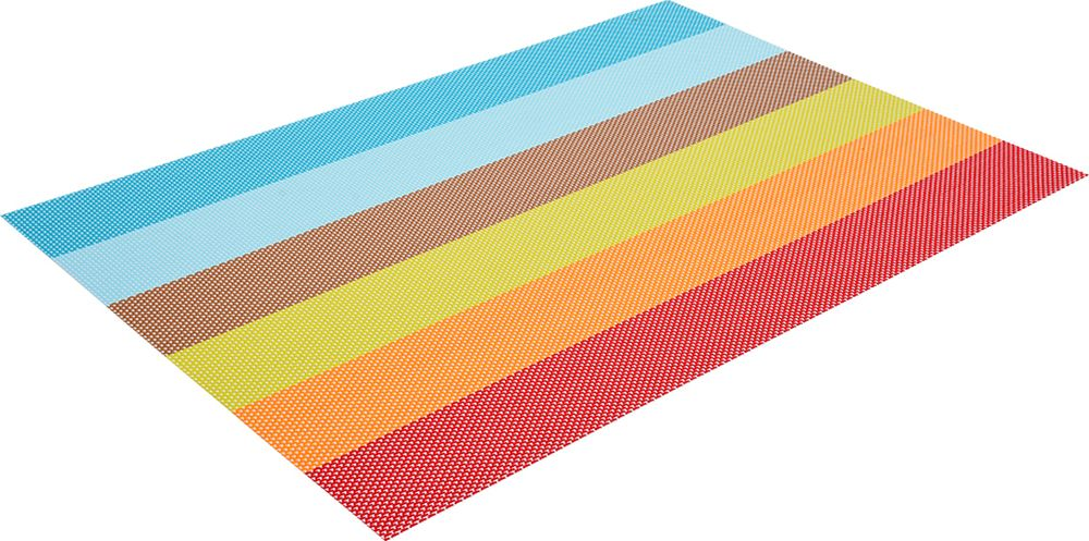 Салфетка сервировочная Marmiton Геометрия, цвет: мультиколор, 30 х 45 см16162Салфетка Marmiton предназначена для сервирования стола и украшение интерьера. Салфетка выполнена из ПВХ.Такие изделия легко моются и удобны в хранении, имеют стильный и красивый дизайн. Изготовлены из современного, высокотехнологичного материала, обладающего рядом уникальных свойств: высокая прочность, эластичность, большая износостойкость, высокая термостойкость и устойчивость к ультрафиолетовым лучам. Меры предосторожности: температурный режим использования до 90 С. Не подвергать прямому воздействию огня!