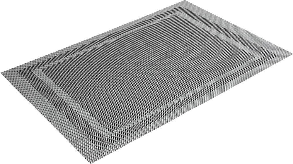 Салфетка сервировочная Marmiton Геометрия, цвет: металлический, 30 х 45 см16164Салфетка Marmiton предназначена для сервирования стола и украшение интерьера. Салфетка выполнена из ПВХ.Такие изделия легко моются и удобны в хранении, имеют стильный и красивый дизайн. Изготовлены из современного, высокотехнологичного материала, обладающего рядом уникальных свойств: высокая прочность, эластичность, большая износостойкость, высокая термостойкость и устойчивость к ультрафиолетовым лучам. Меры предосторожности: температурный режим использования до 90 С. Не подвергать прямому воздействию огня!