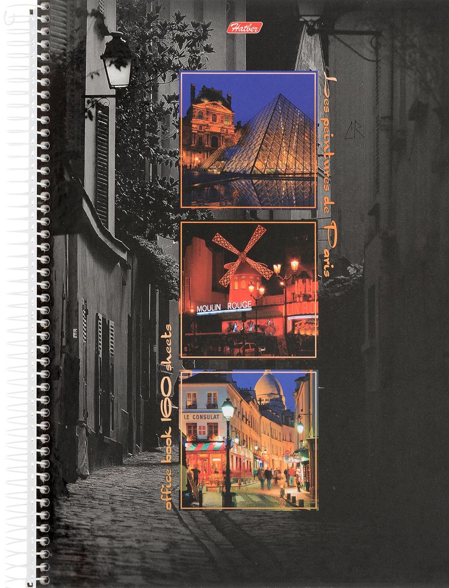 Hatber Тетрадь Краски Парижа 160 листов в клетку160Тт4B1сп_08932Тетрадь Hatber Краски Парижа отлично подойдет для занятий студенту. Обложка тетради выполнена из плотного толстого картона, позволит сохранить тетрадь в аккуратном состоянии на протяжении всего времени использования.Внутренний блок тетради, соединенный гребнем, состоит из 160 листов белой бумаги в голубую клетку без полей. Также внутренний блок тетради имеет перфорацию под папки формата А4.