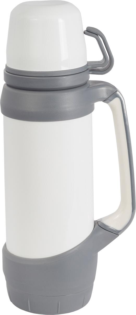 Термос Indiana  Classic , с двумя чашками, цвет: белый, серый, 1,2 л - Туристическая посуда