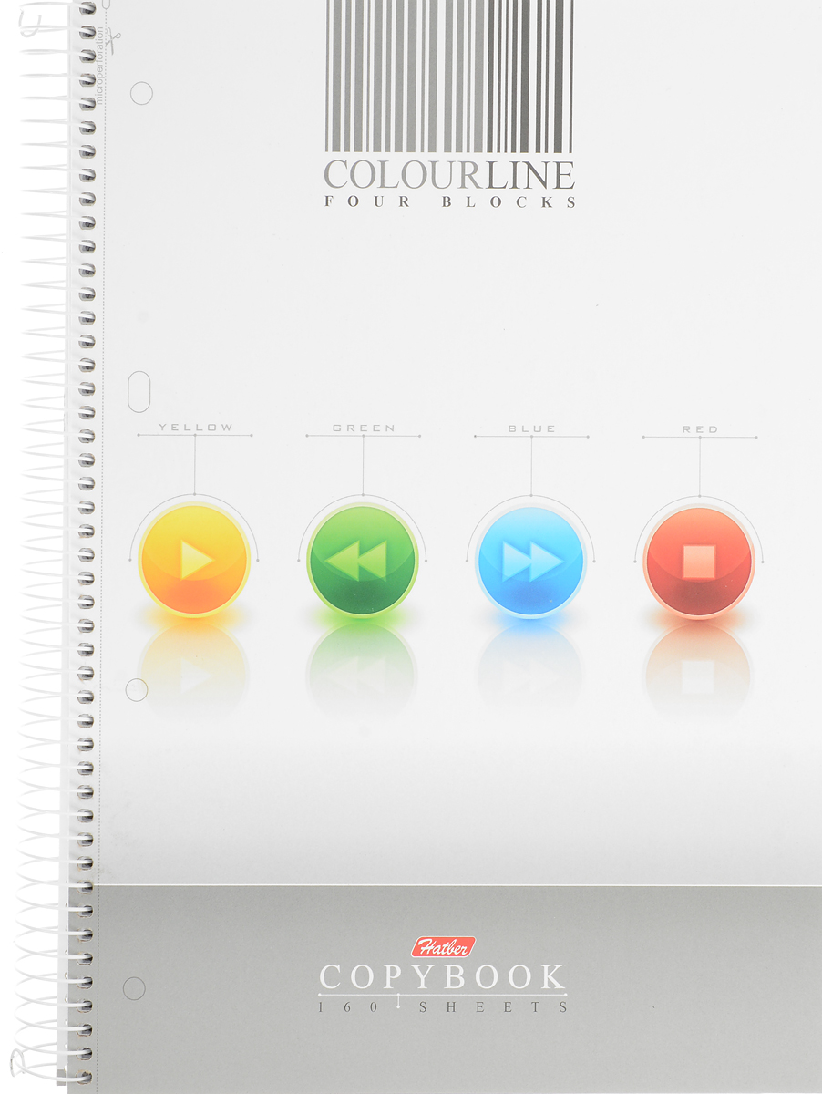 Hatber Тетрадь Colour Line 160 листов в клетку с разделителями