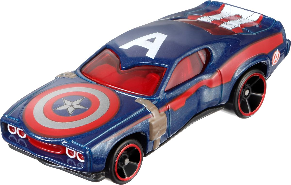 Hot Wheels Avengers Машинка Captain America hot wheels avengers машинка black panther