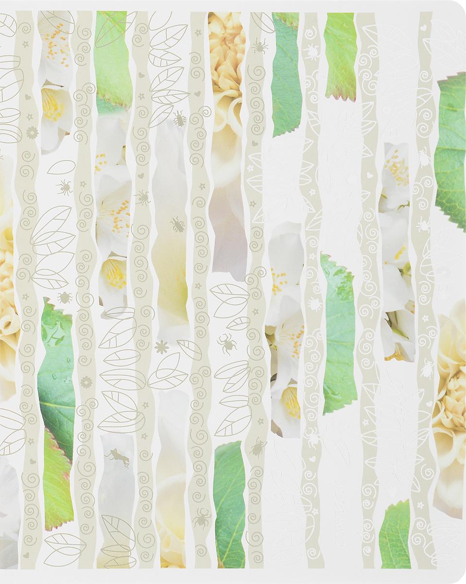 Полиграфика Тетрадь Leaves&Beetles 96 листов в клетку цвет зеленый4601921375992бежевыйТетрадь Полиграфика Leaves&Beetles отлично подойдет для занятий как школьнику, так и студенту. Обложка тетради выполнена из плотного мелованного картона и позволит сохранить тетрадь в аккуратном состоянии на протяжении всего времени использования. Внутренний блок тетради, соединенный скрепками, состоит из 96 листов белой бумаги в голубую клетку с полями.