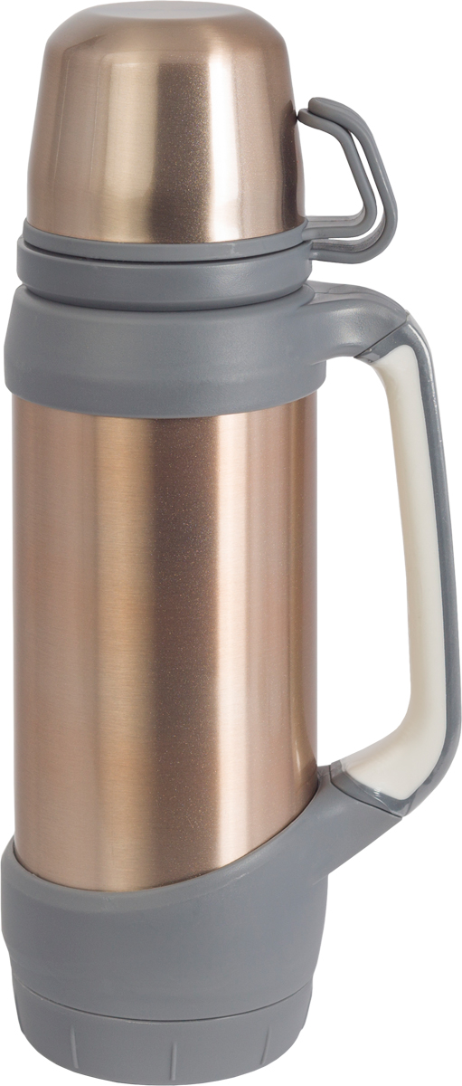Термос Indiana  Classic , с двумя чашками, цвет: бронзовый, 1,2 л - Туристическая посуда