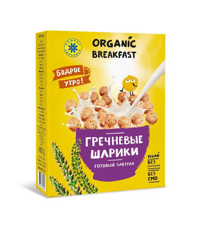 Компас Здоровья Гречневые шарики сухой завтрак, 100 г компас здоровья корица молотая 60 г