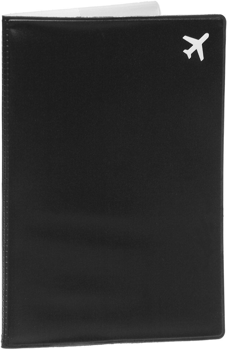 Обложка для паспорта Kawaii Factory Самолет, цвет: черный. KW064-000255 обложки kawaii factory обложка для паспорта мы с вами лошадка