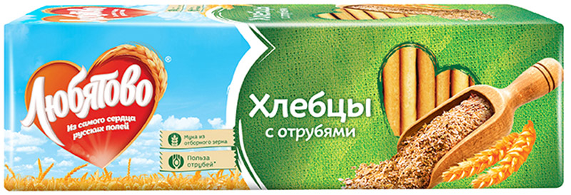 Любятово Хлебцы С отрубями, 185 г ryvita multi grain хлебцы многозерновые из цельного зерна 250 г