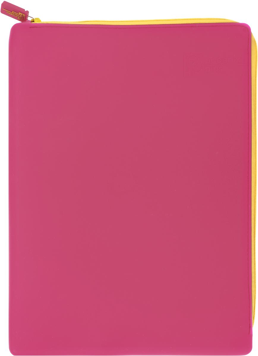 Феникс+ Папка для тетрадей формат А4+ цвет красный40267Папка для тетрадей Феникс+ - это удобный и функциональный инструмент, который идеально подойдет для хранения различных бумаг формата А4+, а также школьных тетрадей и письменных принадлежностей.Папка изготовлена из прочного силиконаи надежно закрывается на застежку-молнию. Папка практична в использовании и надежно сохранит ваши бумаги и сбережет их от повреждений, пыли и влаги, а закругленные уголки обеспечат долговечность и опрятный вид папки.